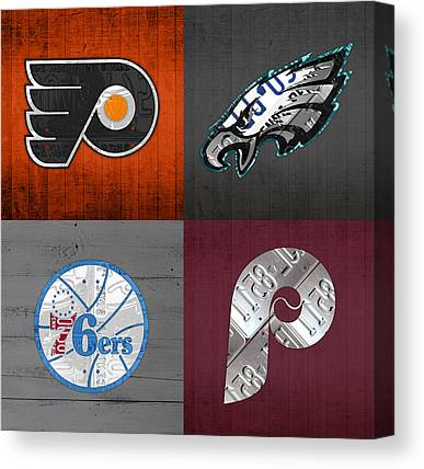 Flyers Mixed Media Canvas Prints