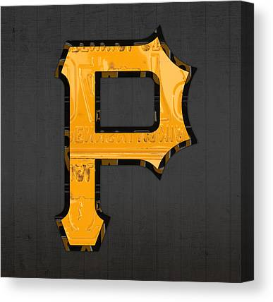 Pittsburgh Pirates Mixed Media Canvas Prints