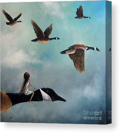 Geese Canvas Prints