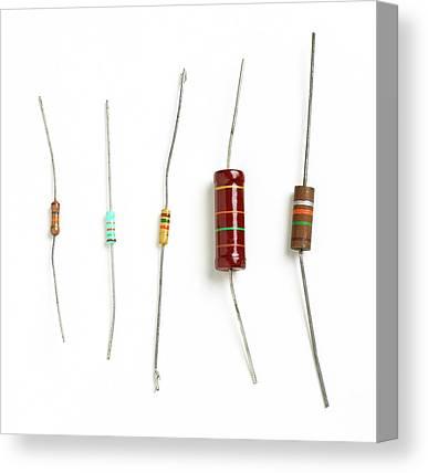 Carbon Film Resistor Canvas Prints