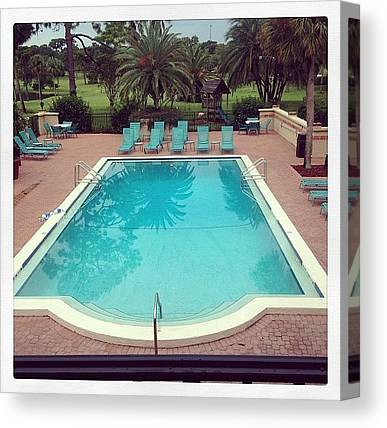 Swimming Canvas Prints