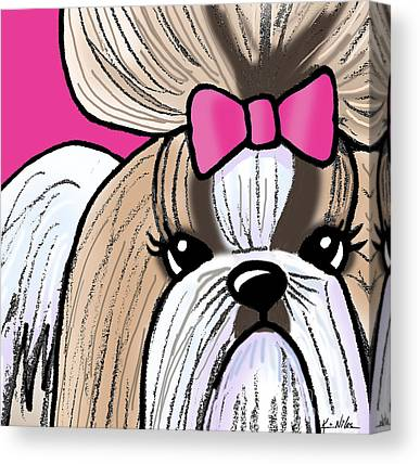 Shihtsu Canvas Prints