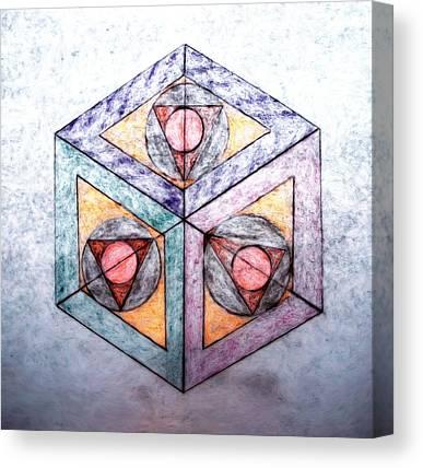 Cubicle Mixed Media Canvas Prints