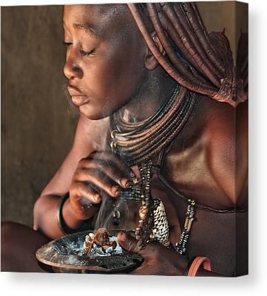 Tribal Woman Canvas Prints