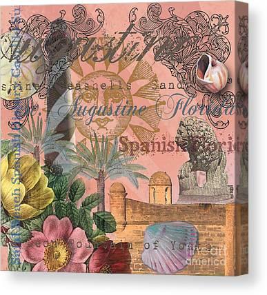 Spanish Fort Digital Art Canvas Prints