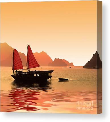Junk Boat Canvas Prints