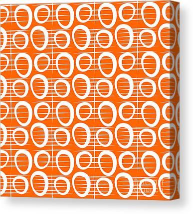 Tangerines Mixed Media Canvas Prints