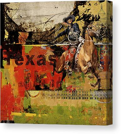 Texas City Ranger Canvas Prints
