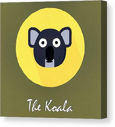 Koala Digital Art Canvas Prints