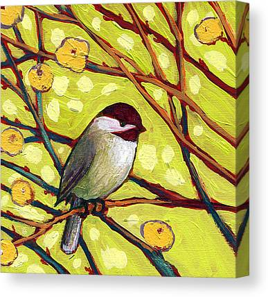 Chickadee Canvas Prints