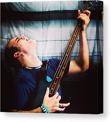 Bass Guitars Canvas Prints