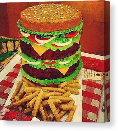 Hamburger Canvas Prints