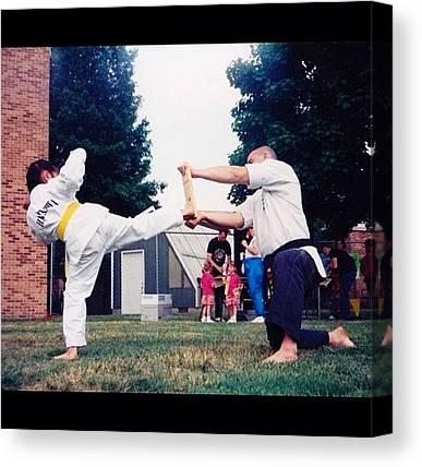 Taekwondo Canvas Prints