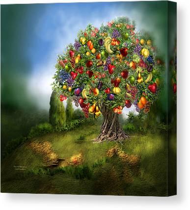 Fruit Tree Art Canvas Prints