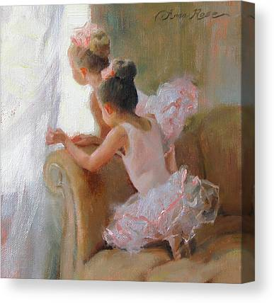 Ballerina Paintings Canvas Prints