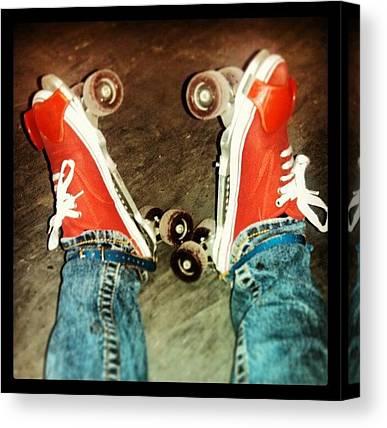 Roller Skating Canvas Prints