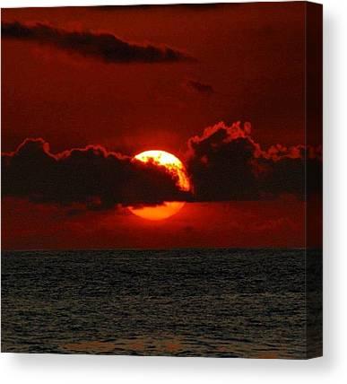 Ocean Sunsets Canvas Prints