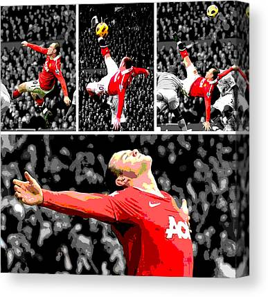 Wayne Rooney Canvas Prints