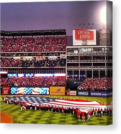 Texas Rangers Canvas Prints