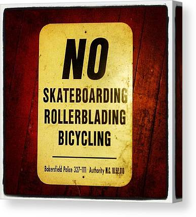 Rollerblading Canvas Prints