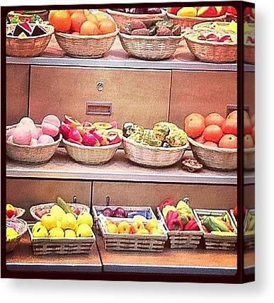 Fruit Baskets Canvas Prints
