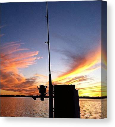 Fishing Poles Canvas Prints