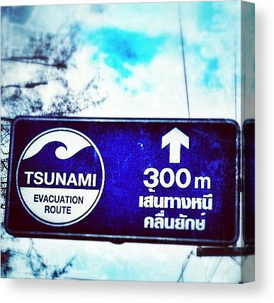 Tsunamis Canvas Prints