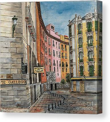 City Cafe Canvas Prints