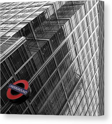London Tube Canvas Prints