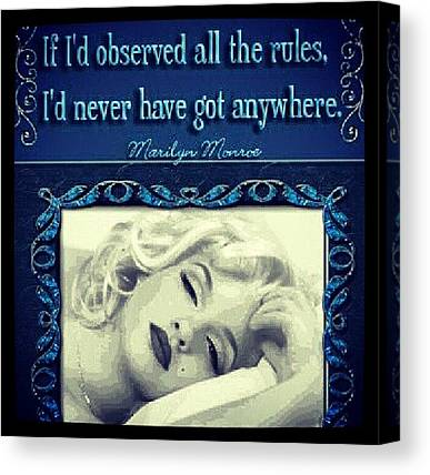 Marilyn Monroe Canvas Prints
