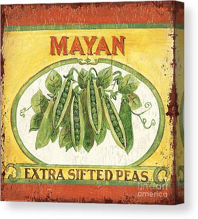 Mayan Paintings Canvas Prints