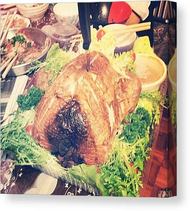 Turkey Dinner Canvas Prints
