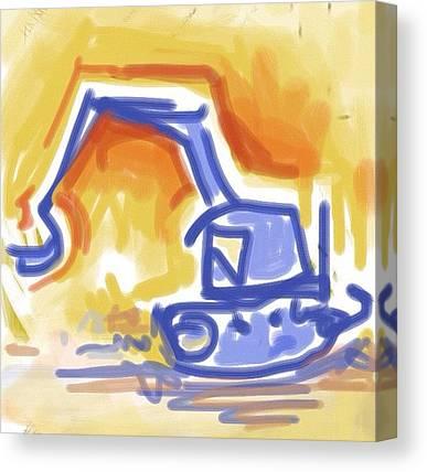 Excavators Canvas Prints