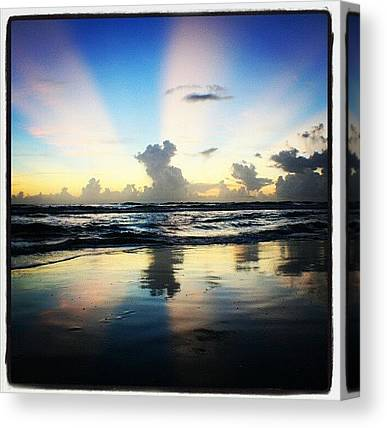 Beach Sunrises Canvas Prints