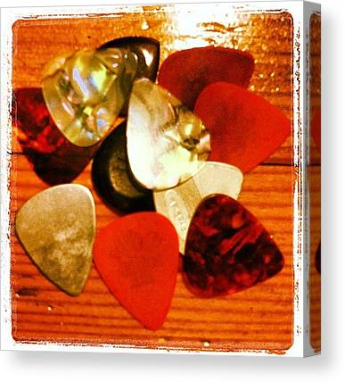 Guitar Picks Canvas Prints