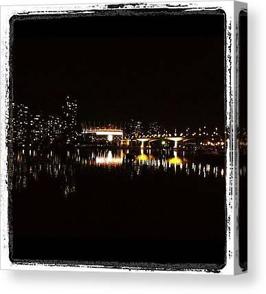Vancouver Skyline Canvas Prints