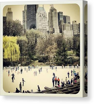 Ice Skating Canvas Prints