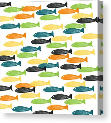 Abstract Fish Art Canvas Prints