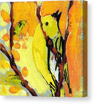 Warbler Canvas Prints
