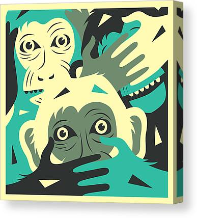 See No Evil Canvas Prints