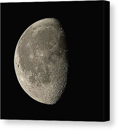 Waning Gibbous Moon Canvas Prints
