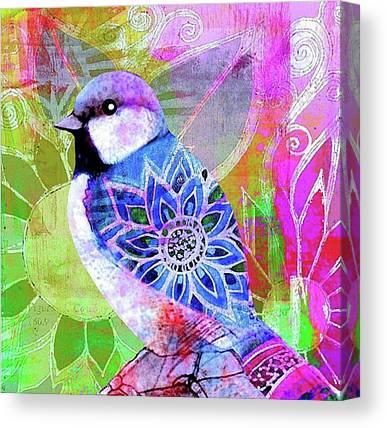 Tropical Birds Canvas Prints