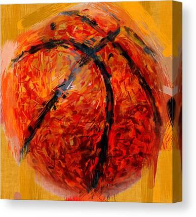 Basketball Abstract Canvas Prints