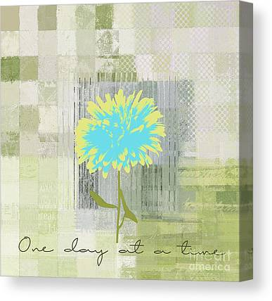 At Flower Canvas Prints