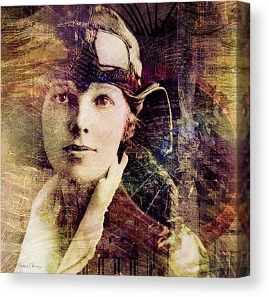 Amelia Earhart Canvas Prints