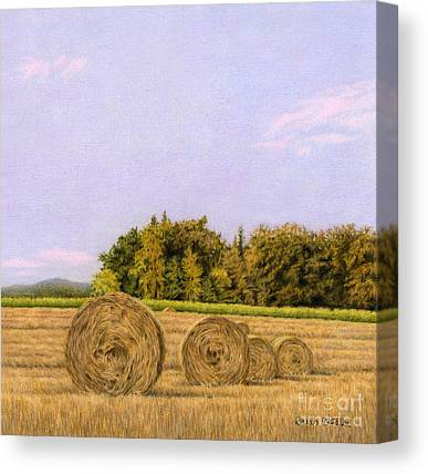 Rural Landscapes Drawings Canvas Prints