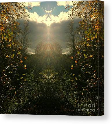 Southern Indiana Autumn Digital Art Canvas Prints