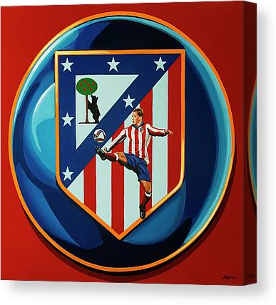 Atletico Madrid Canvas Prints
