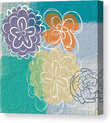 Abstract Floral Canvas Prints