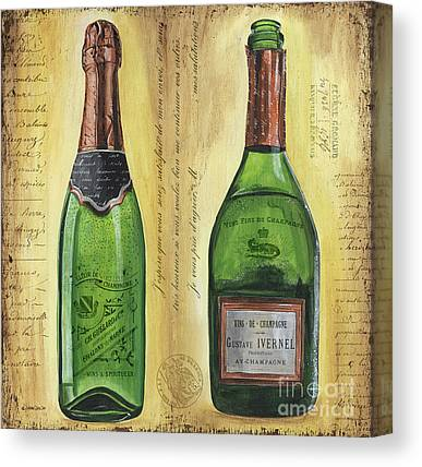 Champagne Mixed Media Canvas Prints